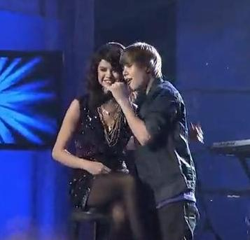 Justin Bieber and Selena Gomez Singing