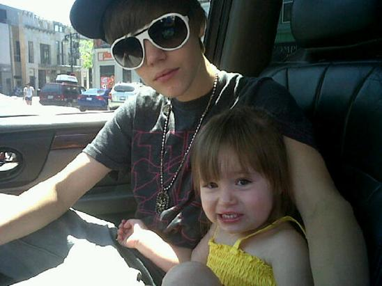 Justin Bieber with Zassy Sister
