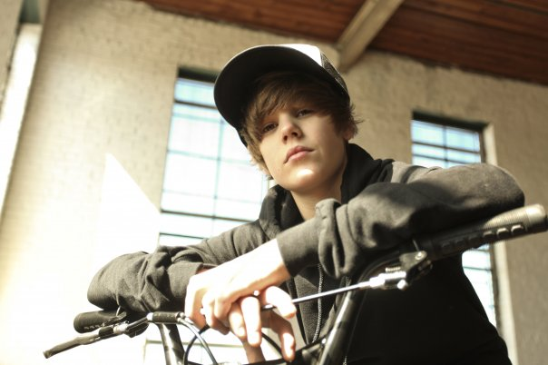 Justin Bieber Playing Bicycle