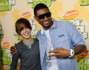 Justin Bieber and Usher in Atlanta
